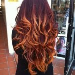 Red Ombre Hair Color for Thick Hair