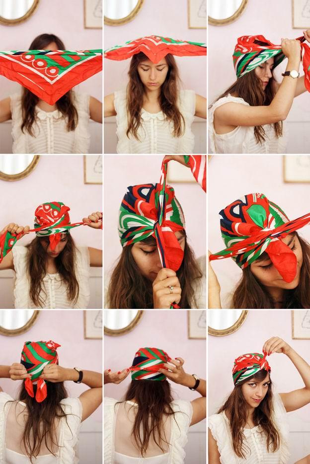 Summer Hair Tutorial - How to Turn a Head Scarf into a Turban