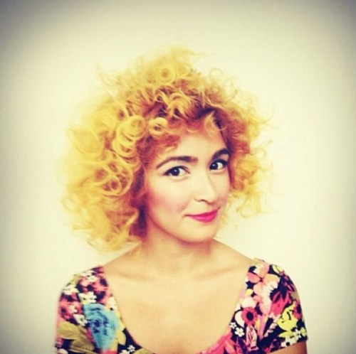 Sunflower Yellow Hairstyle for Spring