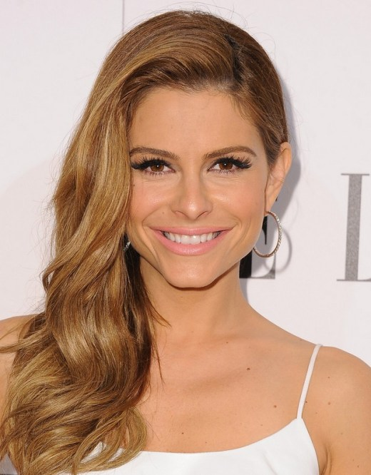 Maria Menounos Long Side Sweep Hairstyle for 2015