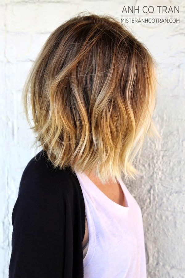 ombre bob hairstyle 2016
