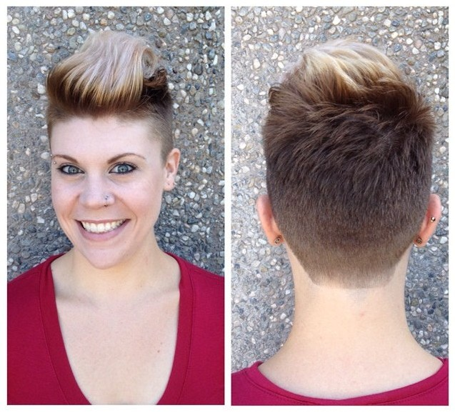 Cool Short Pull Back Hairstyle for Women