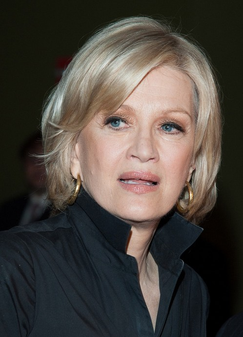 Diane Sawyer short haircut with bangs for women over 60