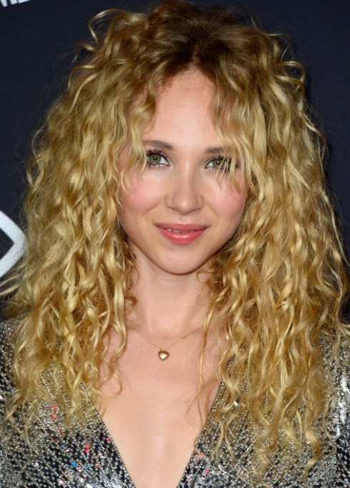 Juno Temple Long Blonde Curly Hairstyles