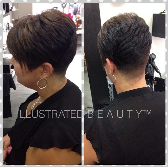 Layered Short Hairstyle for Thick Hair