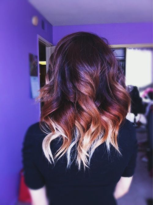 Medium Ombre Hair with WAves