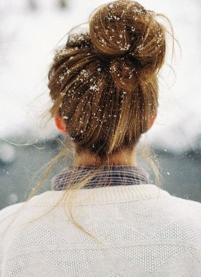 Top Bun Updo for Winter