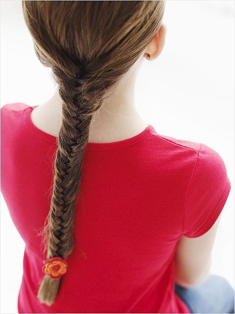 Girls Simple Fishtail Braid for Summer