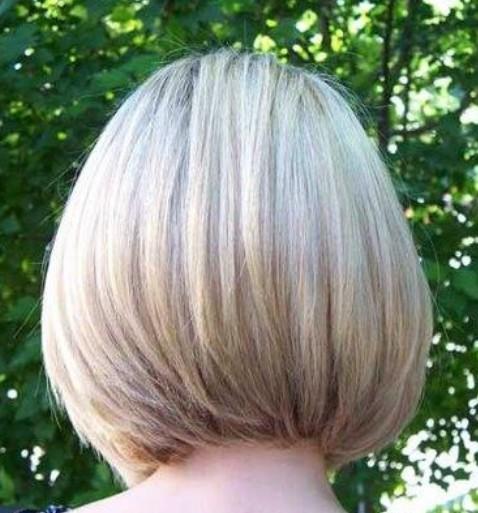 Medium sandy blonde bob with a hint of highlights