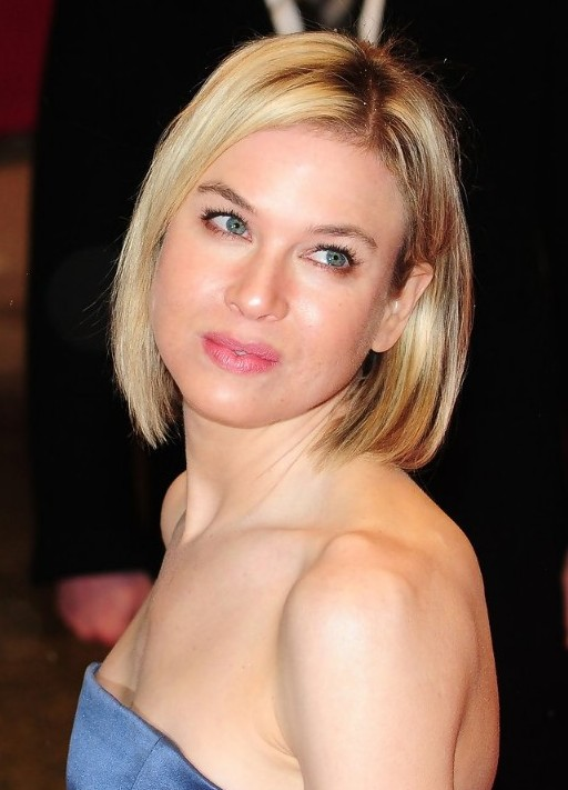 Chic Short Straight Haircut For Women From Renee Zellweger