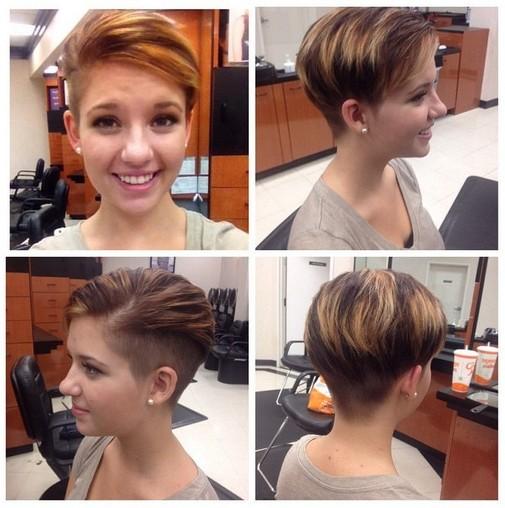 Cool Fashionable Short Haircut for Stylish Young Women