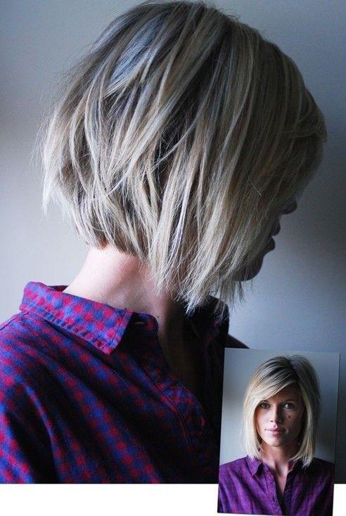 Side View of Cute Choppy Bob Hairstyle for Medium to Short Hair