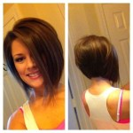 Popular A-line asymmetrical bob cut for women under 30