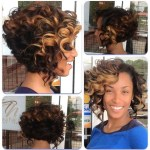 Short Ombre Curly Hairstyle for Black Women