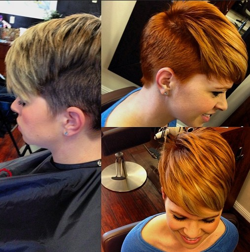 Short layered hairstyle for winter