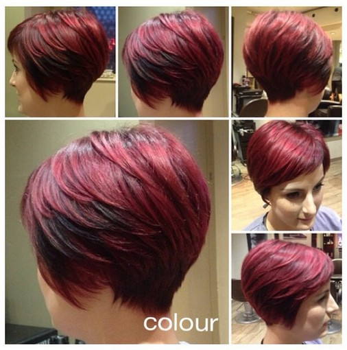 Short red haircut for mature women 2016