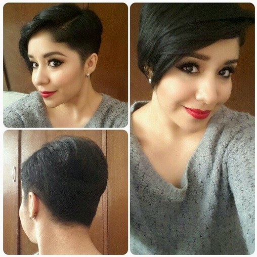 Side Parting Hairstyle with Long Side Bangs