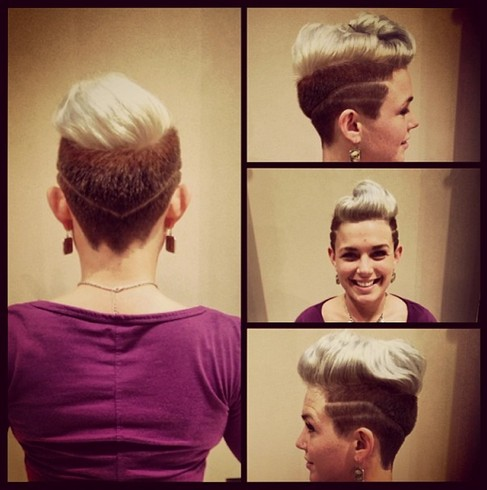 Swept Back Quiff Hairstyle For Women Hairstyles Weekly