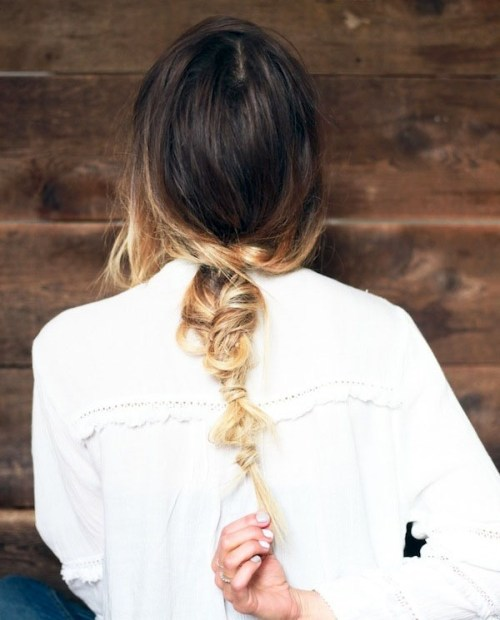 Summer Hair Inspiration: Messy Ombre Fishtail Braid!