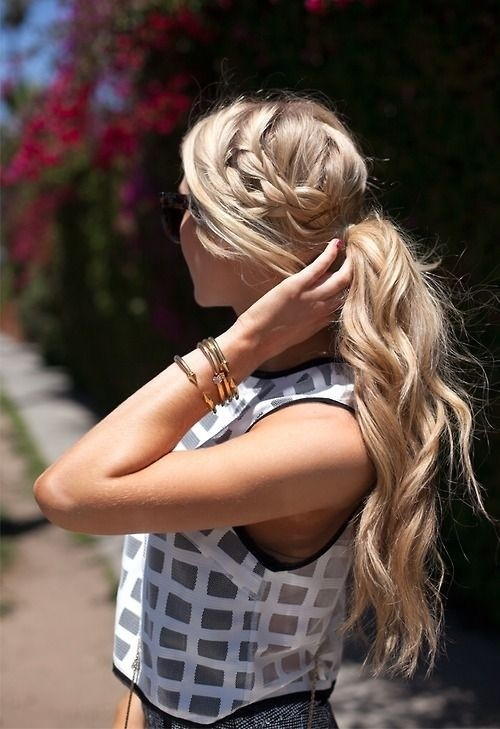 Classy-Summer-Hairstyles-Ponytail-with-Braid