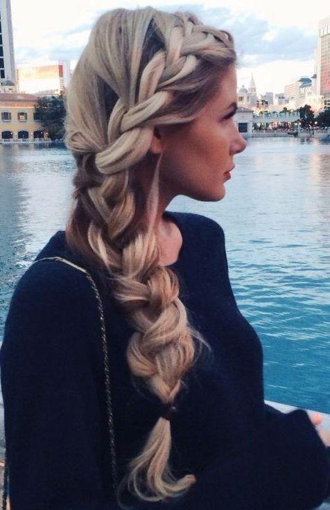 Loose-Braid-Hairstyle-So-Cute