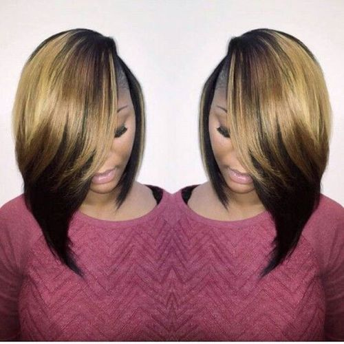 African American ombre bob hairstyle ideas