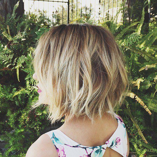 Choppy layered bob haircut for women