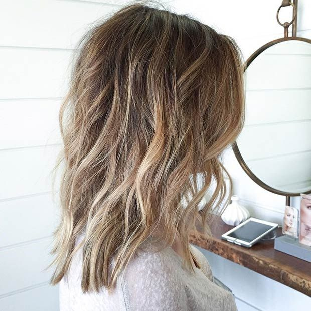 Long Bob (Lob) with Highlights and Lowlights