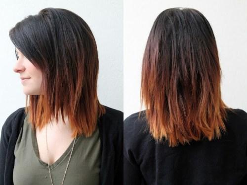 Medium ombre hair color ideas for fall