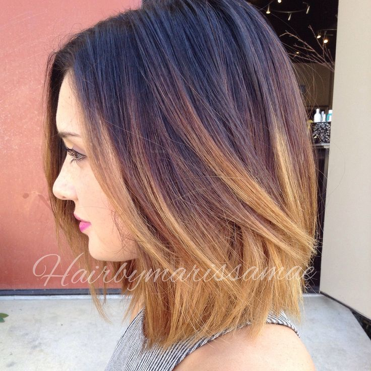 Short dark to blonde ombre hair