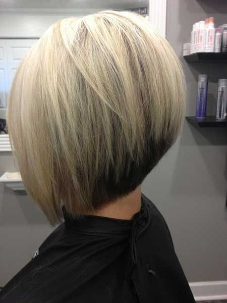 Simple stacked bob hairstyle for women