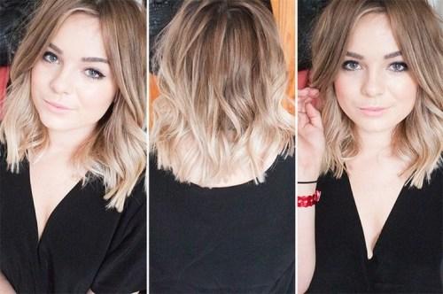 Summer hair ideas - Sweet ombre bob cut for girls