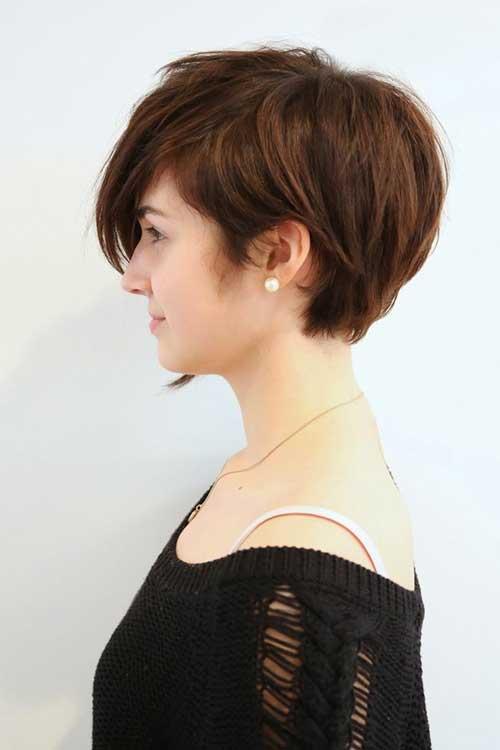 Asymmetrical Long Pixie cut