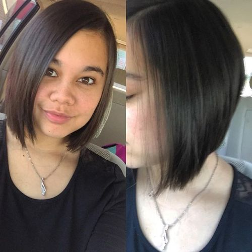 Back to school haircut - Angled Bob Hairstyles for girls