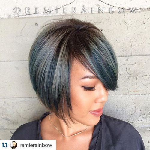 Fashion A-line Bob Haircut with bangs for short hair