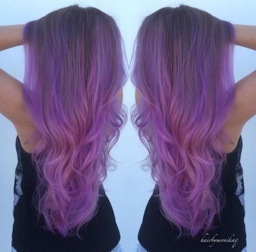 Pastel Purple Hair Extensions