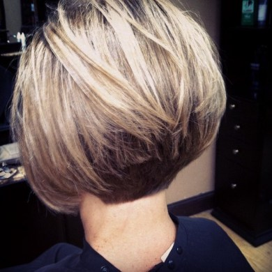 Short Hairstyles Back View Inverted Bob Hair Cut Idea Hair Style