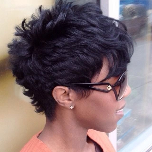 layered pixie cut for black women