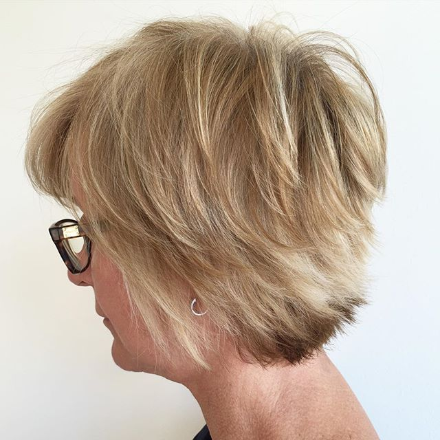 layered short pixie cut for older women over 60