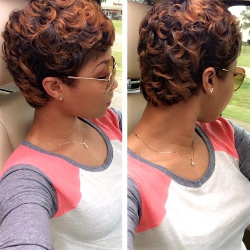 permed hairstyle for black women
