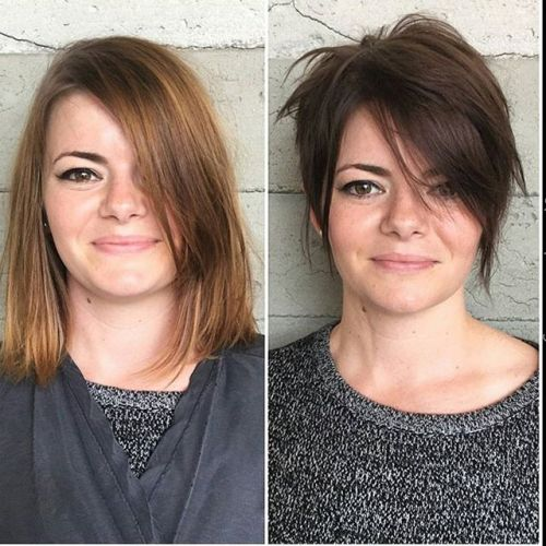 short messy pixie cut for round faces