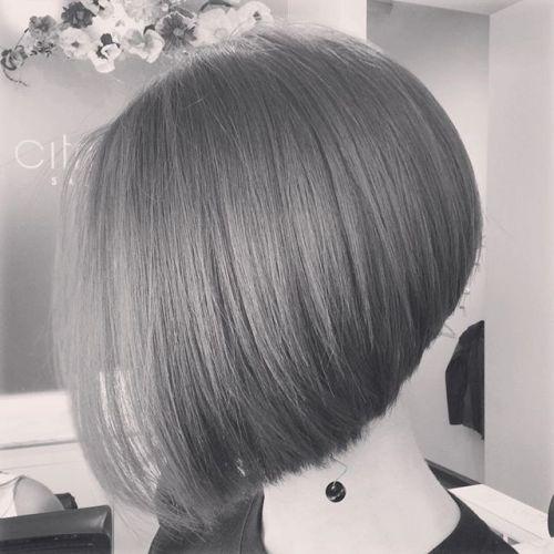 short round inverted bob hairstyle