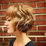 tousled curly bob hairstyle for short hair
