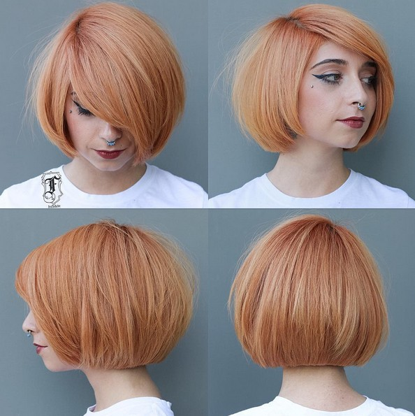 Blunt, Straight Short Bob Haircut - Color and cut would look so good