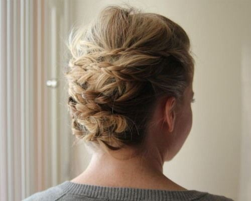 Crazy, Messy Updo Hairstyle with Braids