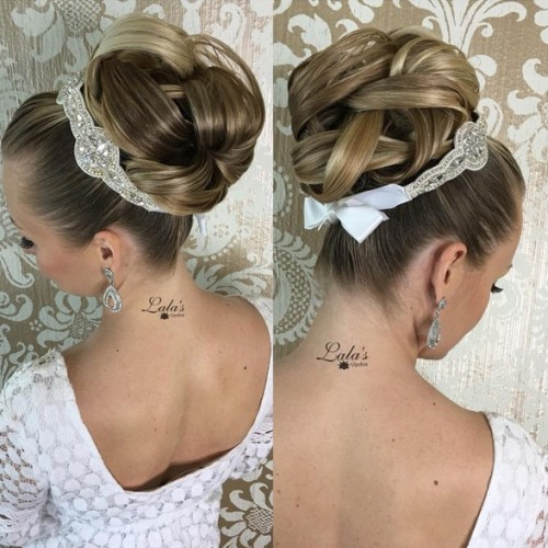 Gorgeous Bridal Updo - Trendiest Updos for Medium Length Hair
