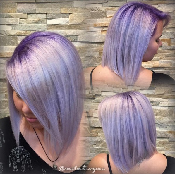 Gorgeous Violet Metallic with Purple Base - Straight Lob Hair Styles