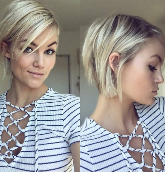 Layered, Blonde Short Hairstyle - Easy Haircuts for Girl