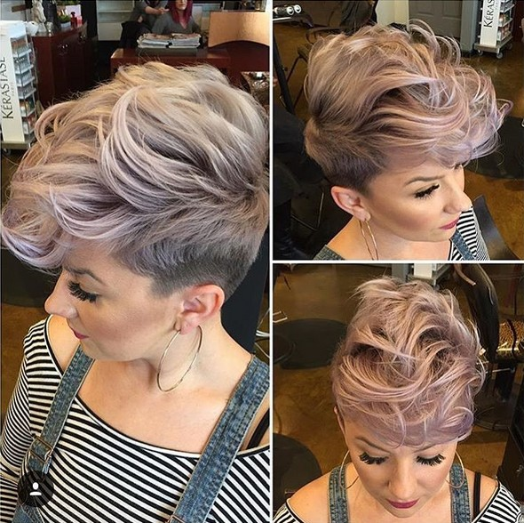 Messy Shaved Haircut with Short Hair - Hottest Balayage Hairstyles