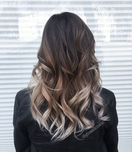 Brown Hair with Sliver Highlights